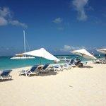 Beach chairs on Prickly Pear Beach