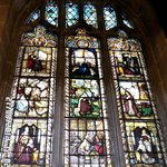 One of many stunning Stain glass windows in st Mary's Church