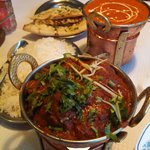 Lamb Vindaloo and Chicken Tikka Masala
