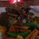 Wonderful liver with heavenly mash and tender veg.