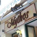 Mythos - Corfu Town - signage