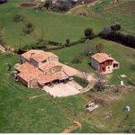 vista aerea casa rural Can Pol de Dalt .Bed and Bike