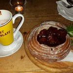 Old prague goulash (beef stew in bread)