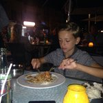 Ben enjoying his curry