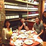 Enjoying our family dinner at Otto Pizzeria, New York