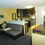 Kitchen w/ sitting area & desk