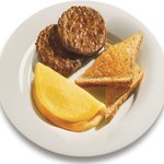 Cheese Omelets & Sausage