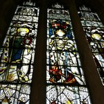 Beautiful stained glass windows everywhere.