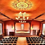 The beautiful auditorium in the recently restored 1834 Town Hall