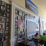 Blackboard on wall is the menu