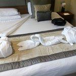 omaggio romantico sul letto