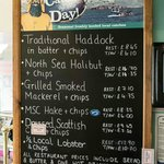 Catch of the Day menu