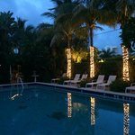 Evening by the pool