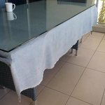 Never seen a denim tablecloth...lovely and clean too ;)