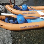 Our kayaks with our gear for two nights. Ready to go.