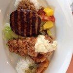 Bomboat meal. Denny's Hawaiian fair menu.