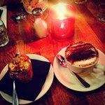 The after meal tiramisu and cappuccino....<3 <3
