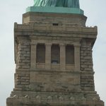 The pedestal which holds the largest symbol of hope and freedom in the world.