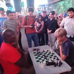 One never thought one can play chess at a famous place like Times Square bit that is it.