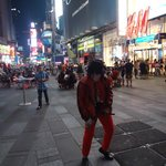 Michael Jackson at the Times Square...