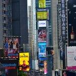 Vue sur Times Square de la terrasse