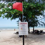 the Red Flag, to warn People not to swim on the Sea esp the Monsoon Season. Please obey this war