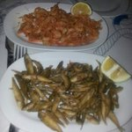 frittura di gamberetti e pescetti tipici di leros