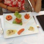 salmon tartare, superb.