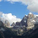 Splendida vista delle Dolomiti del Brenta
