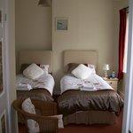 twin beds ground floor room