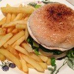 Hamburger y papas fritas