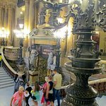 The Grand Staircase was the place to be seen!