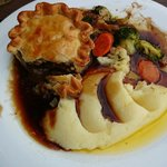 Steak and ale pie.. :)
