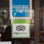 tripadvisor stamp at the reception