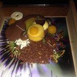 De 8ste gang, we werden extra verwend met 3 desserts, en wat een originele presentatie!