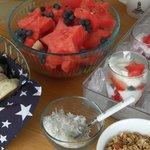 4th of July fruit and yogurt