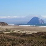 """Morro Bay """"rock"""" from the north."""