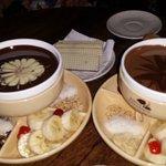 Hazelnut praline fondue