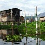 湖上の住宅