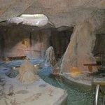 The wonderful grotto hot tub area