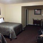 Large room, basic amenities.