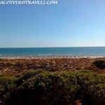 Vistas a la playa de Punta Umbría desde nuestra habitacion