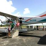 Boarding the seaplane