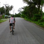 Cycling on deserted roads