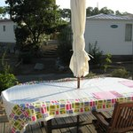 Terrasse im Camping