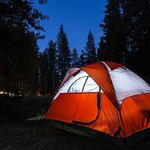 Campsite at night. More picture: