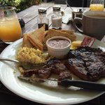 Steak & Eggs - Tippers and the Baron's Smokehouse at Pablo Donte's. Food, Staff, and Environment