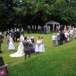 wedding on lawn