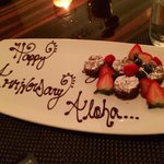 A wonderful surprise for our 1st anniversary. We mentioned in passing we visited BLT in Waikiki,