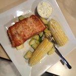 Salmon with veggie sides